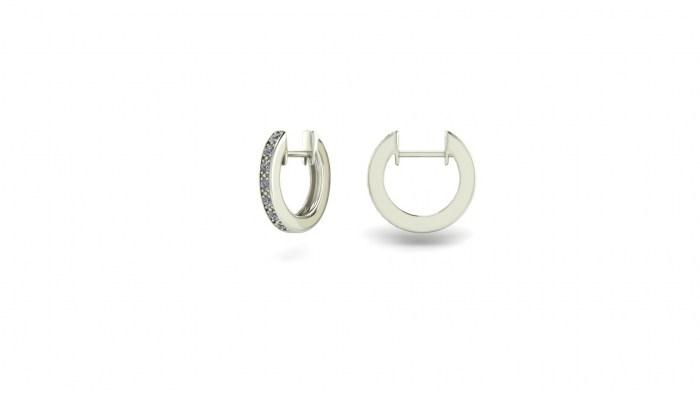 Small Diamond Hoops