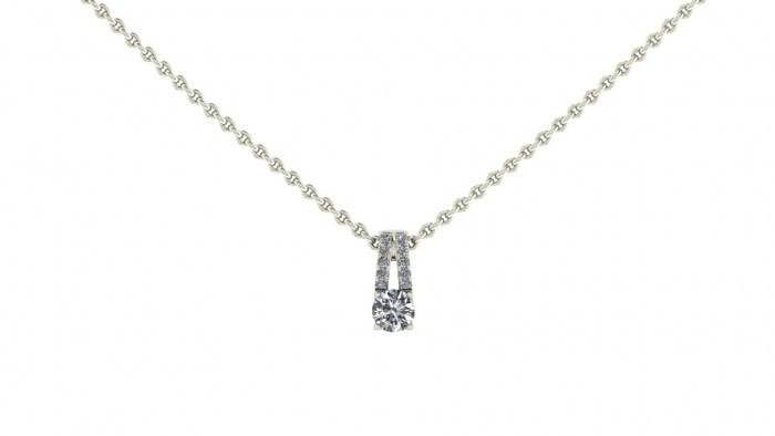Split Loop Diamond Necklace