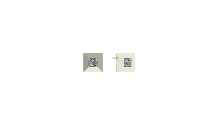 Square Diamond Studs