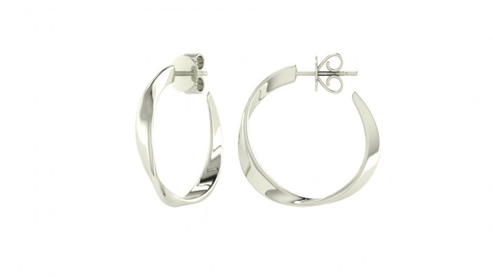 Twisted Ribbon Hoops