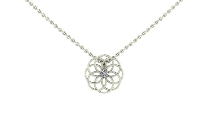 Woven Diamond Pendant