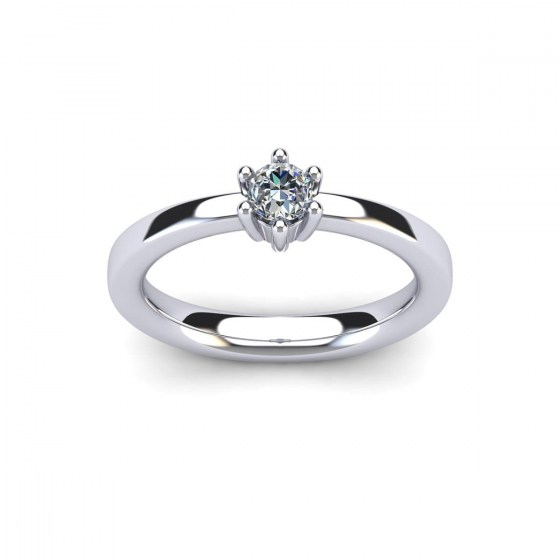 025 Contemporary Six Prong Engagement Ring