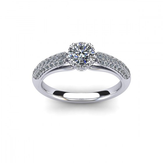 Modern Crown-Set Engagement Ring