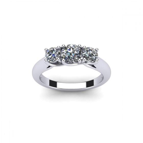 Three Stone Luxury Ring