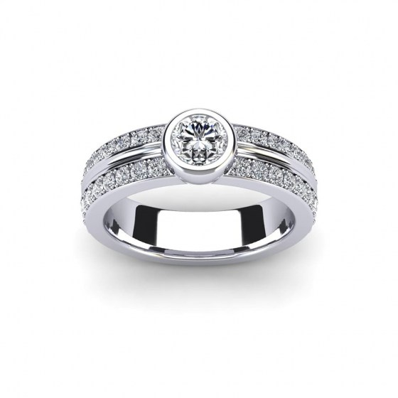 Luxury Bezel Ring