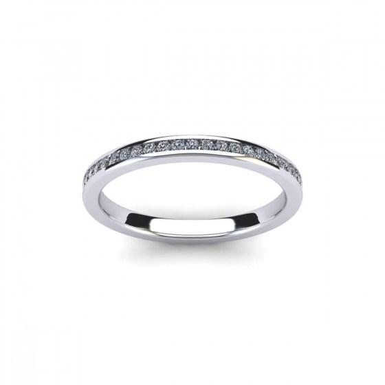 Slim Channel Set Eternity Ring