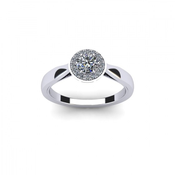 Modern Halo Ring