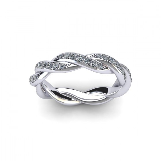 Braided Eternity Ring