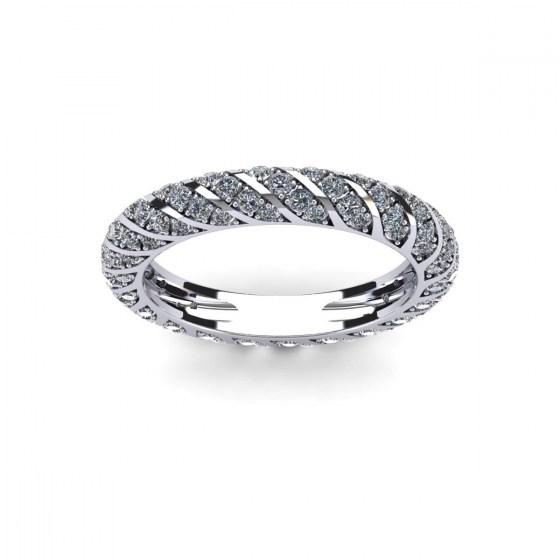 Diamond Twirls Eternity Ring