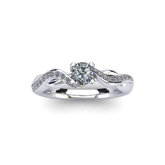 Diamond Wave Engagement Ring