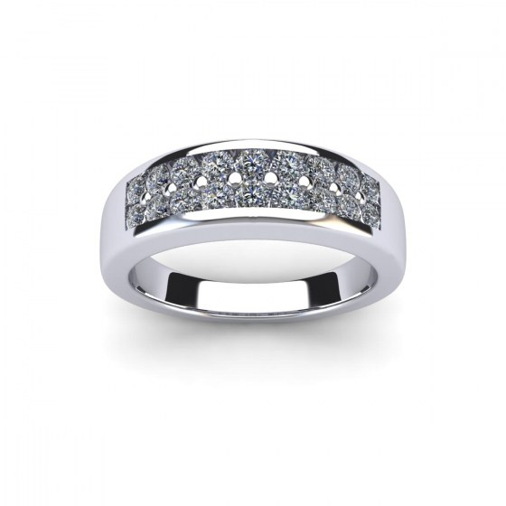 Hybrid Diamond Ring