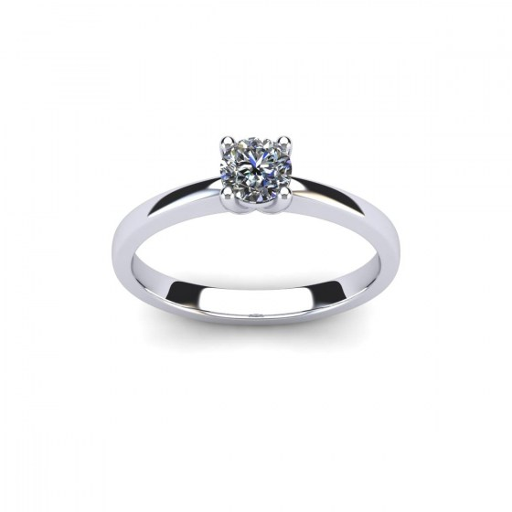 Classic V Prong Solitaire