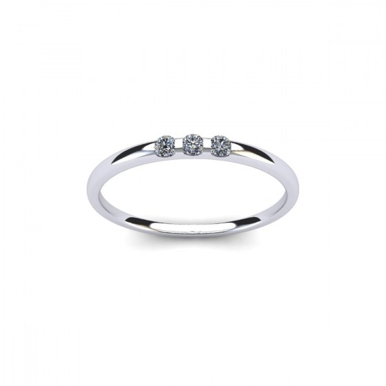 010 Three Stone Modern Reveal Ring