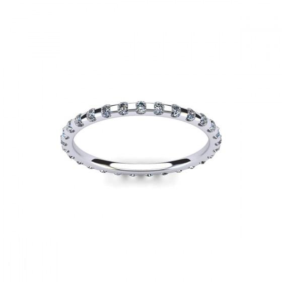 060 Petite Channel Set Diamond Eternity Ring