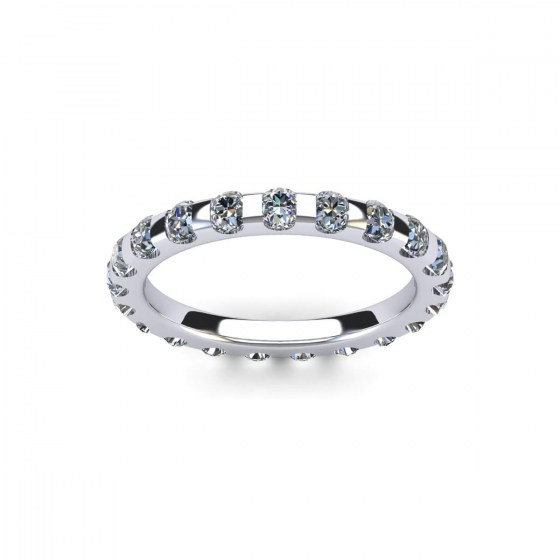 200 Petite Channel Set Diamond Eternity Ring