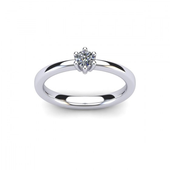 018 Contemporary Six Prong Engagement Ring