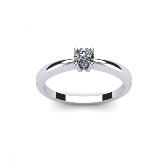 25 Point Fine Diamond Engagement Ring