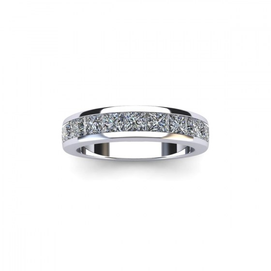 Tapered Square Channel Eternity Ring
