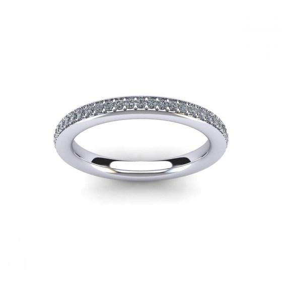 Bead Set Eternity Ring 025