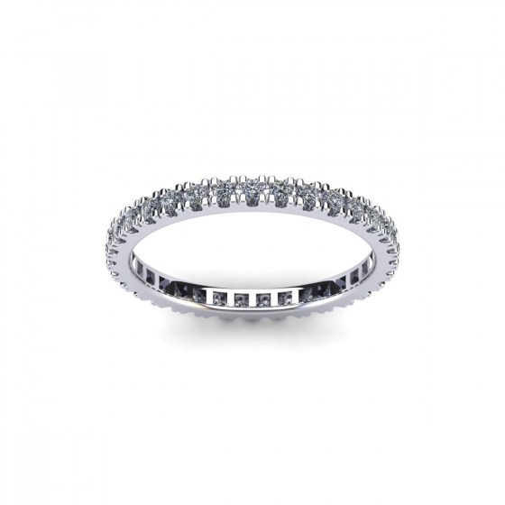 French Claw Set Eternity Ring
