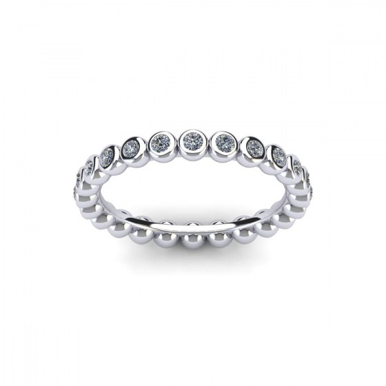 Vintage Bezel Set Eternity Ring