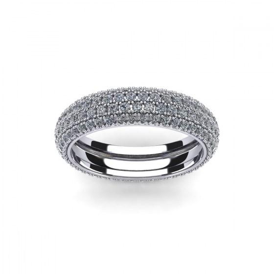 Four Row Pavé Eternity Ring