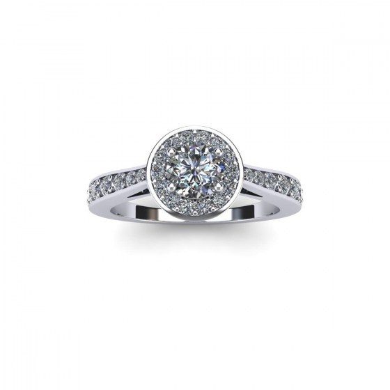 Diamond Dipped Engagement Ring