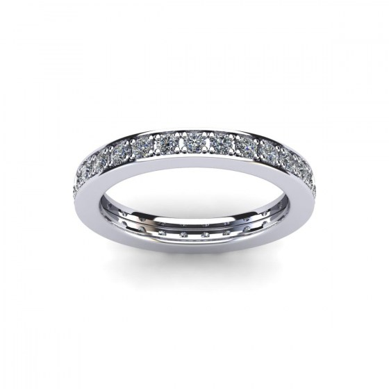 03 Bead Set Eternity Band