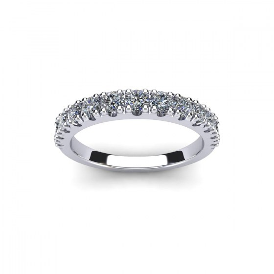 Starry Night Four Prong Tapered Ring
