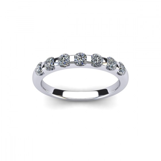 077 Seven Stone Modern Reveal Ring