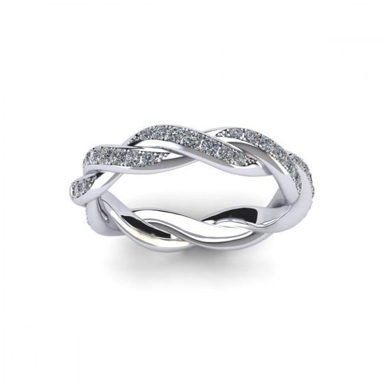 Braided Full Eternity Ring