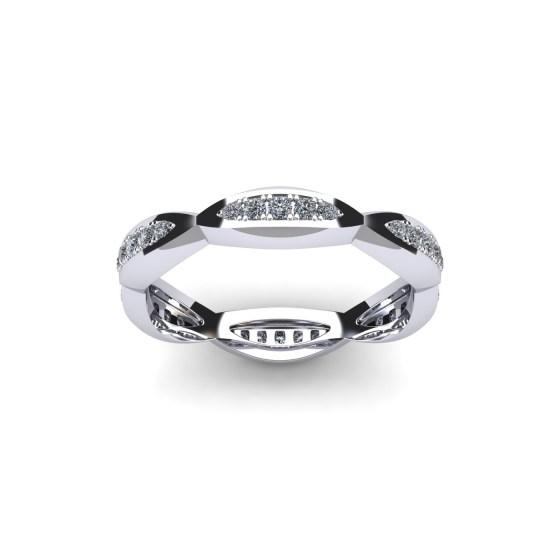 Diamond Ark Eternity Ring