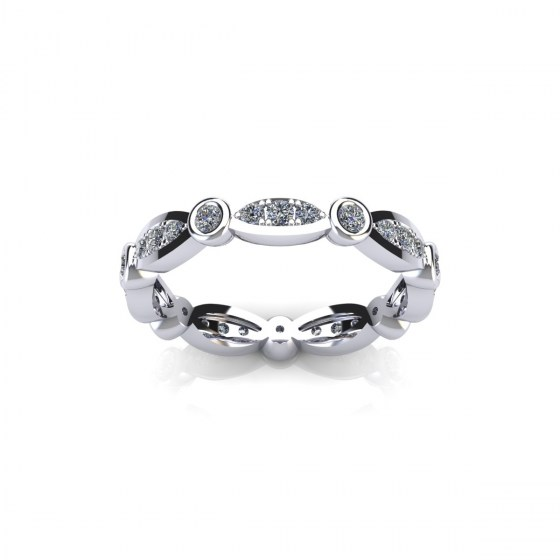 Diamond Column Ring 2