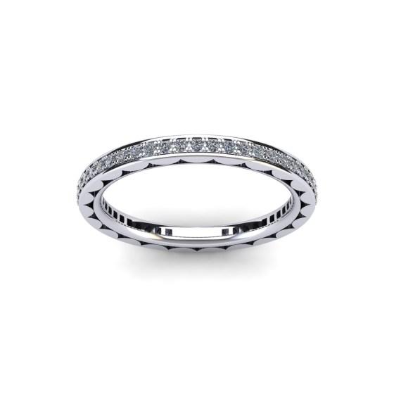 Diamond Fluted Eternity Ring