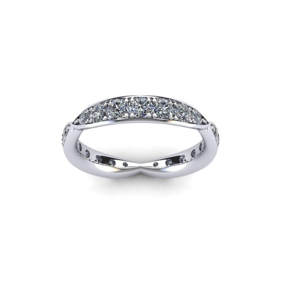 Diamond Pinched Eternity Ring