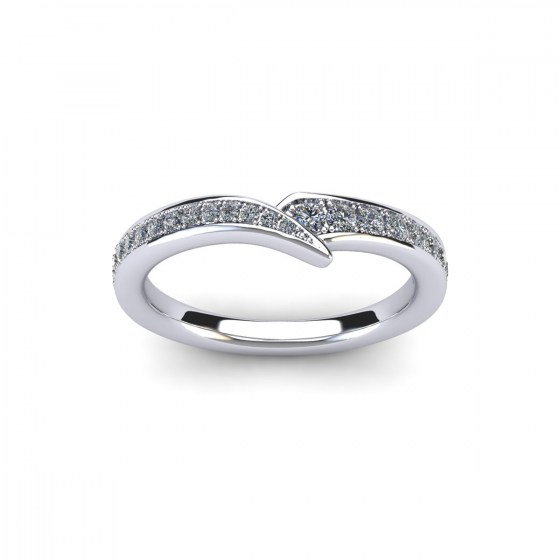 Foxtail Diamond Wedding Band