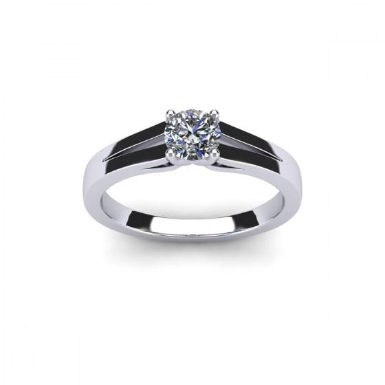 Open Shank Diamond Engagement Ring