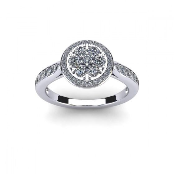 Pavé Set Diamond Ring