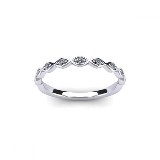 Petite Marquise Half Eternity Ring