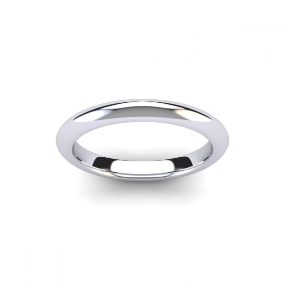 Dome Shaped Wedding Band