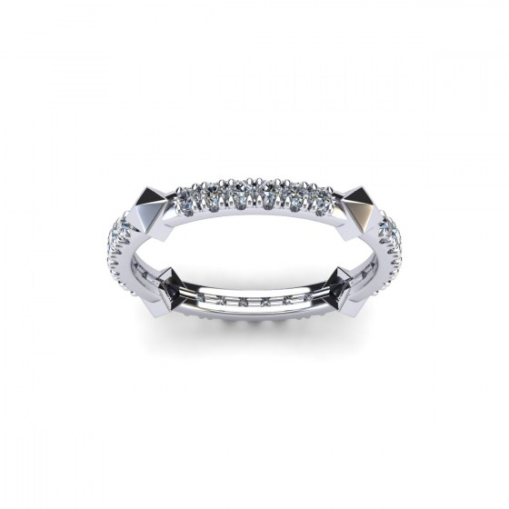 Riveted Diamond Band