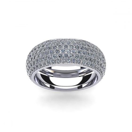 Six Row Pavé Eternity Ring