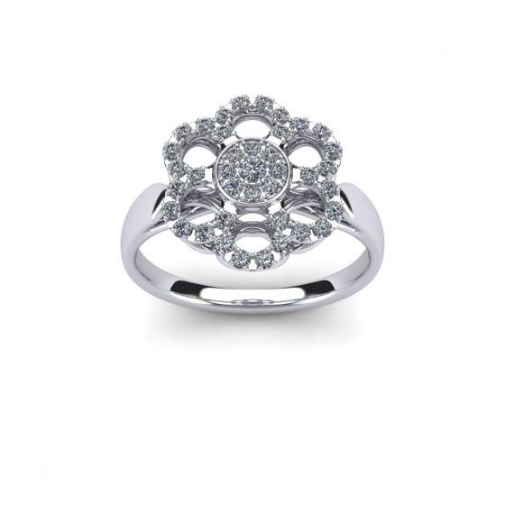 Snowflake Diamond Ring