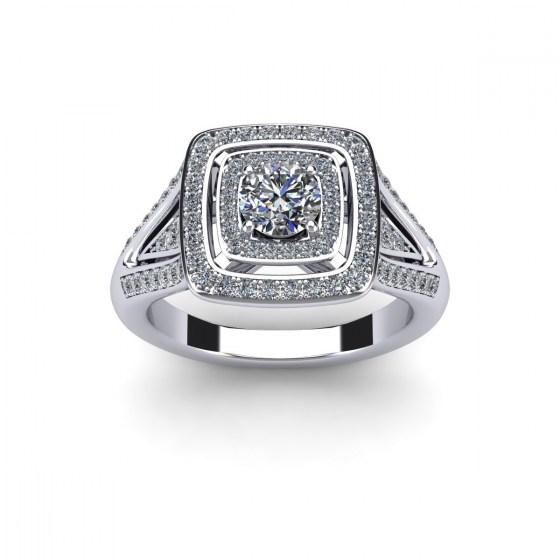 Structure Diamond Ring