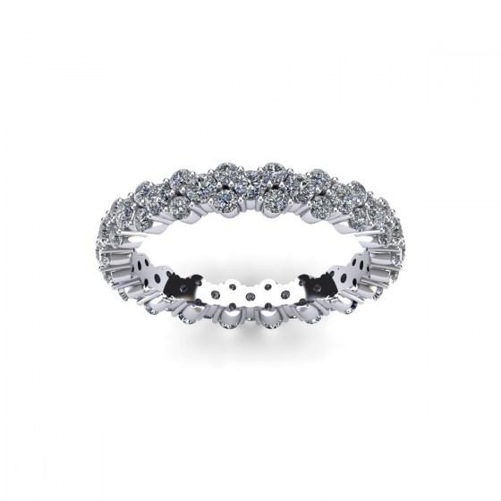 Three Row Full Diamond Ring
