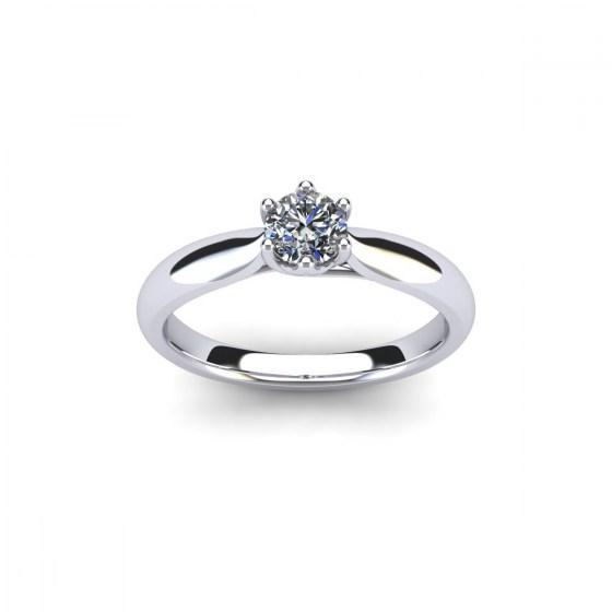 Woven Diamond Engagement Ring